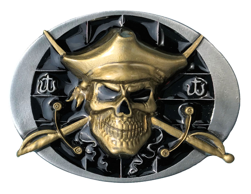 Pirate Skull Black & Gold Range