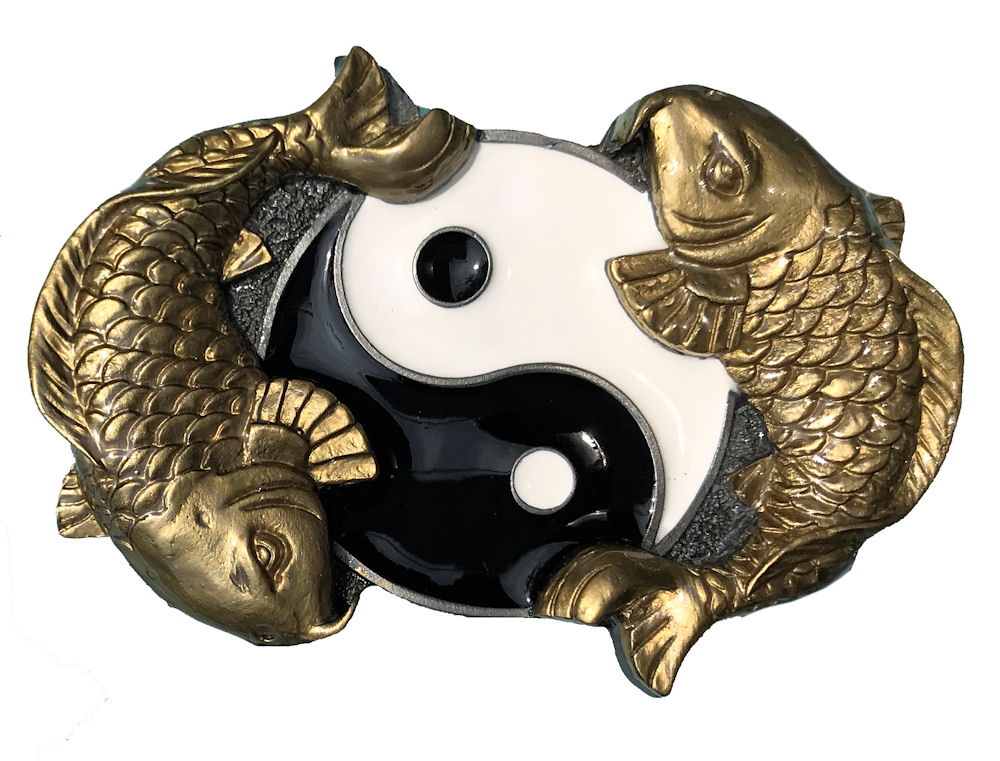 Ying Yang Fish Black & Gold Range