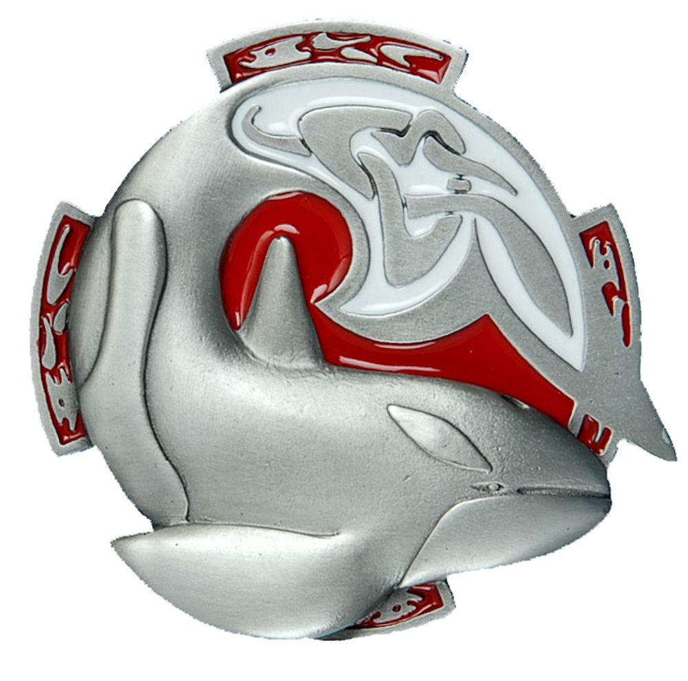 Celtic Whale Belt Buckle