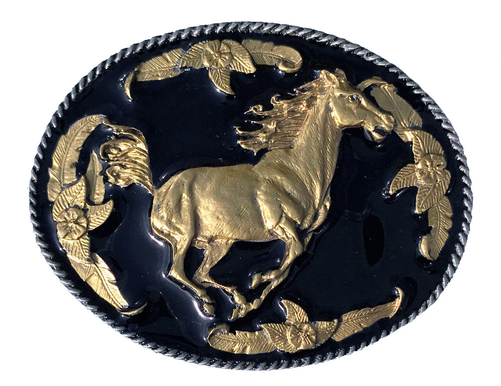 Running Horse Black & Gold