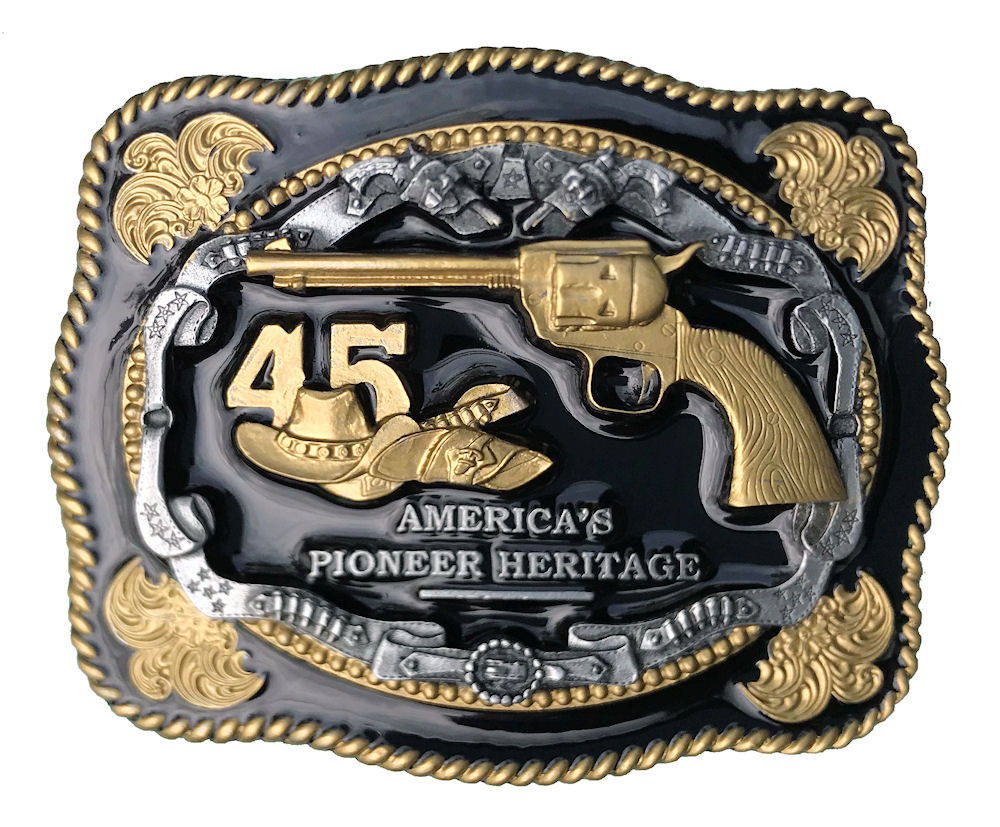 45 Black & Gold Range Belt Buckle