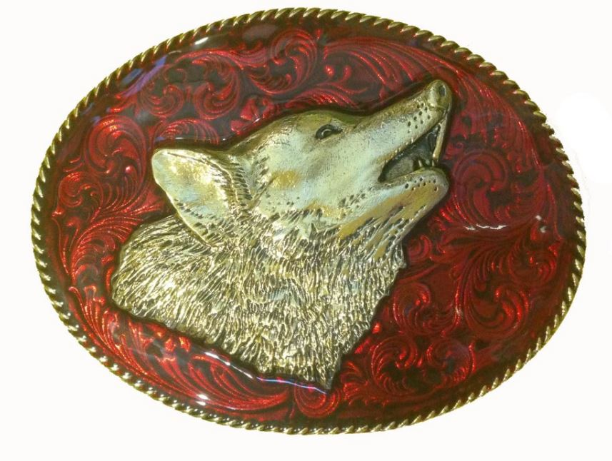 Large Oval Wolf Head
