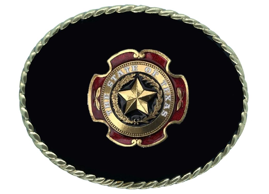 TEXAS STAR Belt Buckle Black Gold Colour