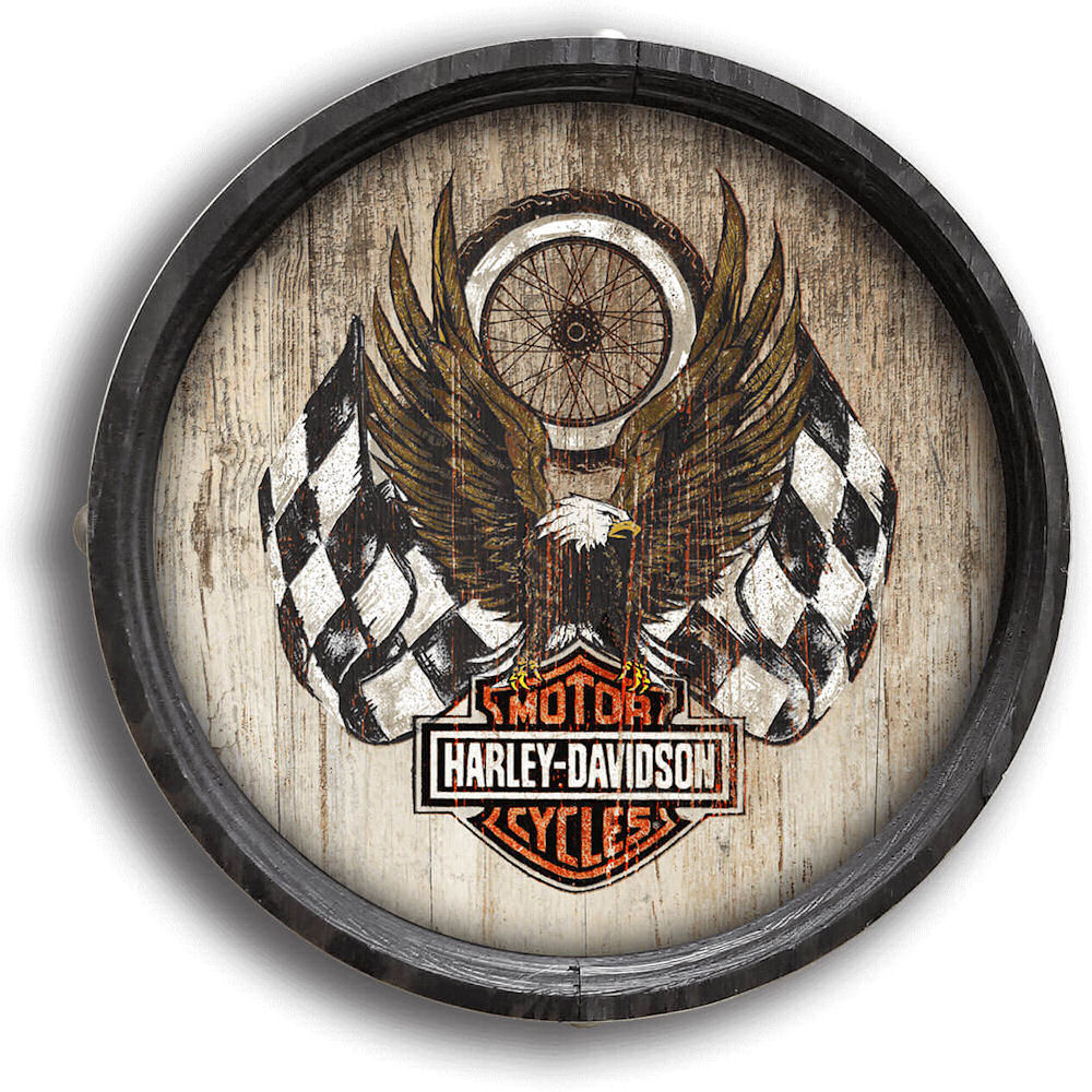 Harley Davidson Barrel End Eagle Sign