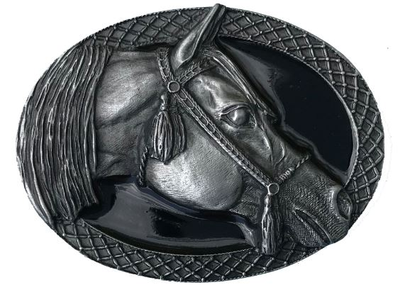 Arabian Horse Buckle - Black