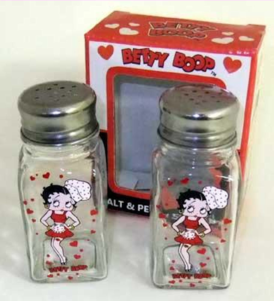 Betty Boop Salt & Pepper Shakers
