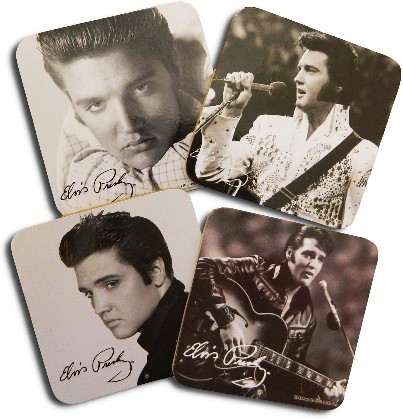 Elvis Presley Wooden coasters, set of 4