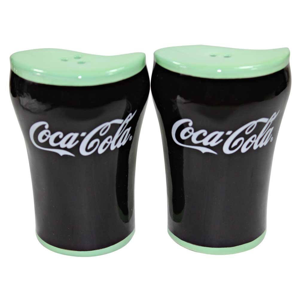 Coca-Cola Ceramic Salt - Pepper Shakers