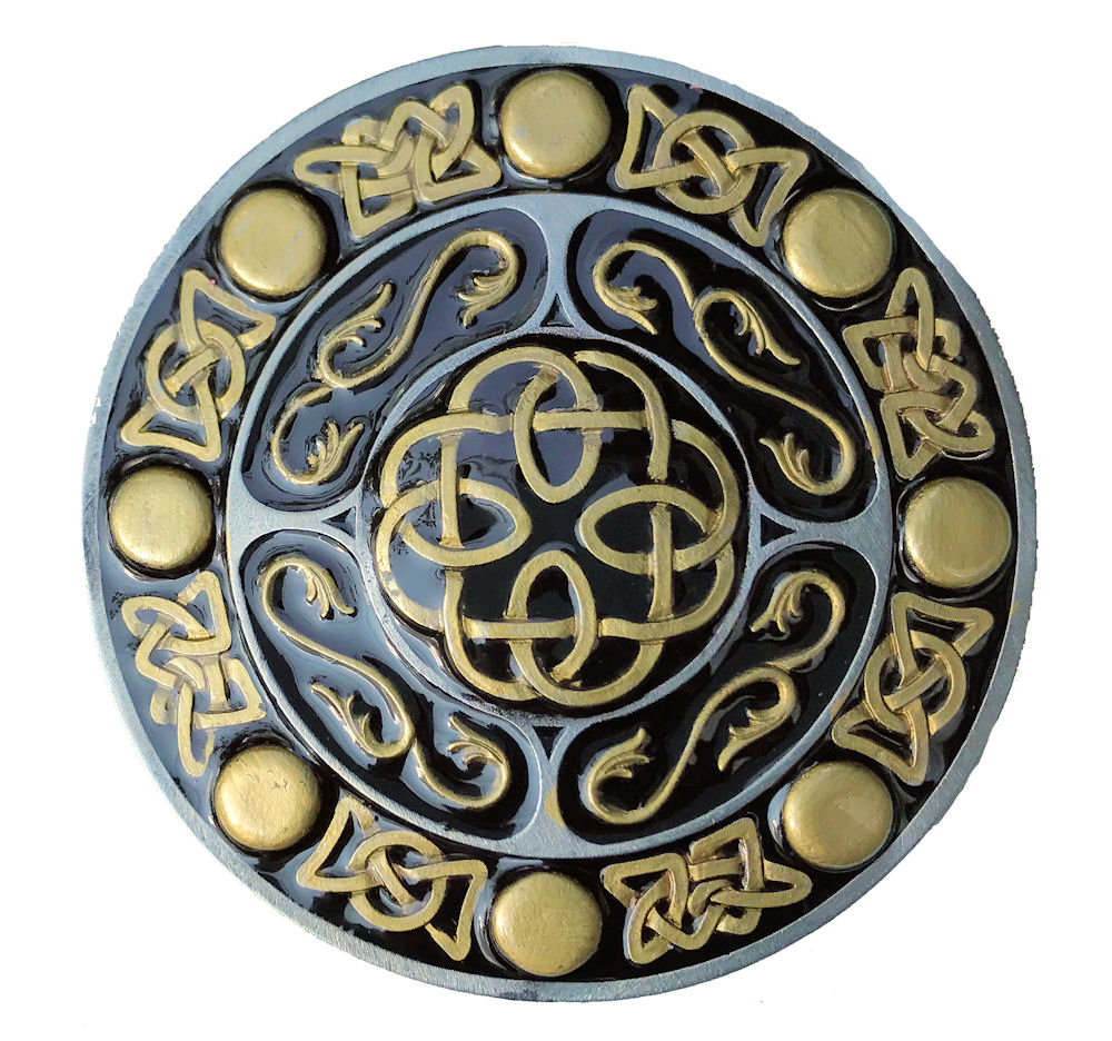 Round Celtic Design Black & Gold Range