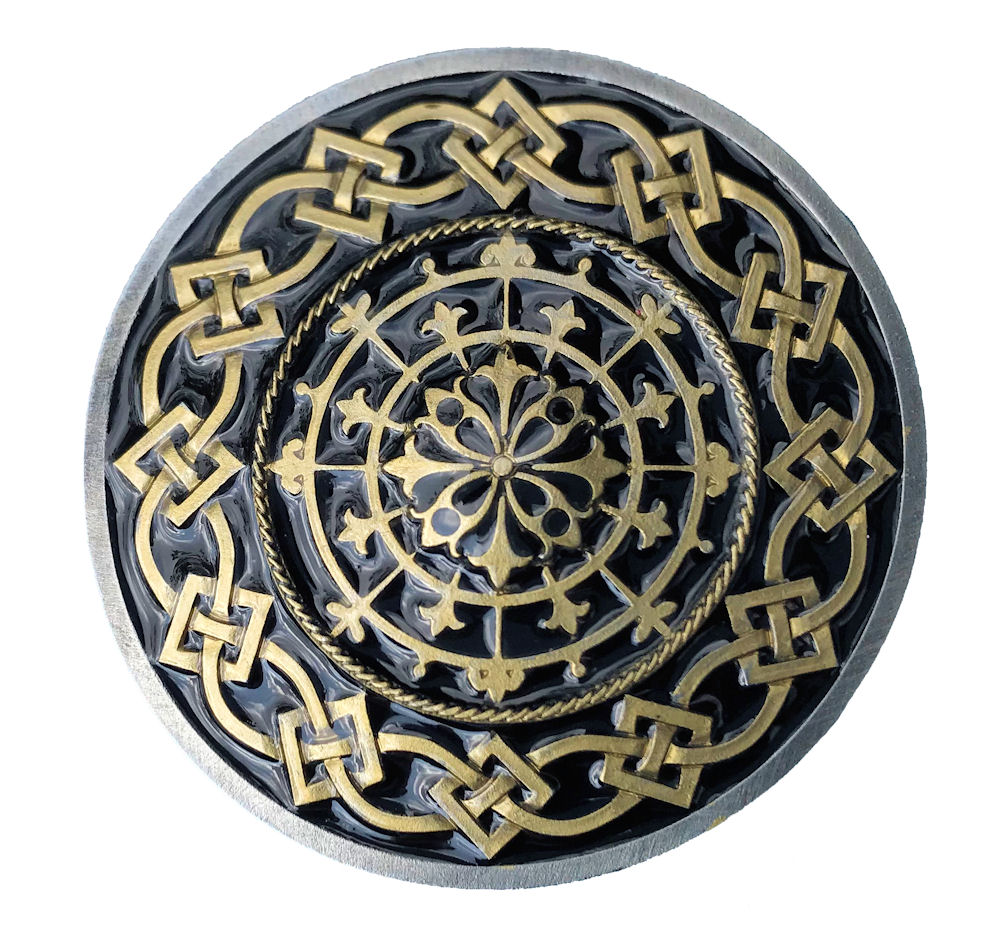 Celtic Round Border Design Black & Gold Range