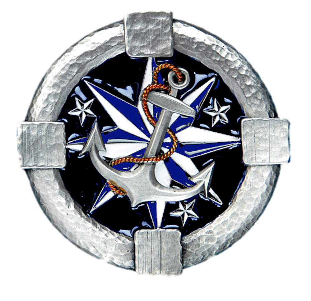 Anchor and Star Belt Buckle
