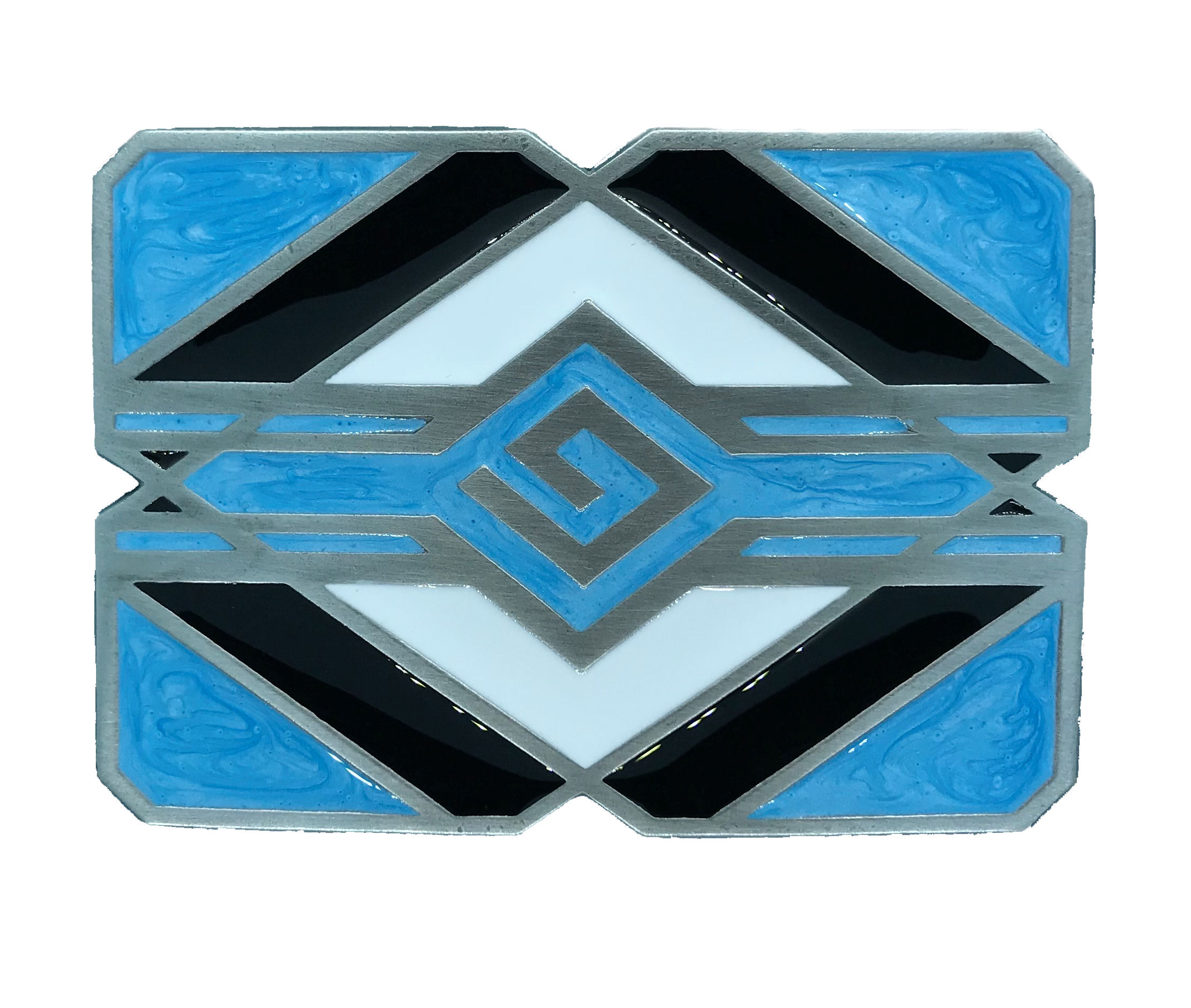 Indian Aztec Turquoise Belt Buckle