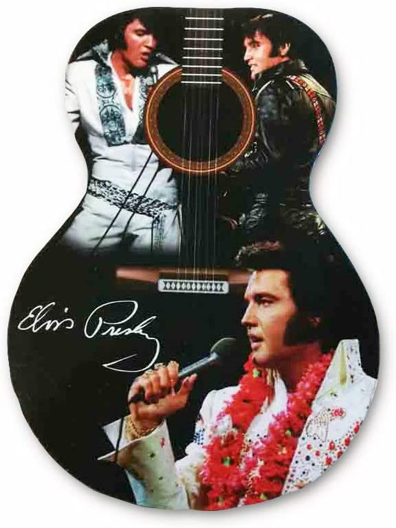 Elvis Set of 4 Coasters - Guitar Shape