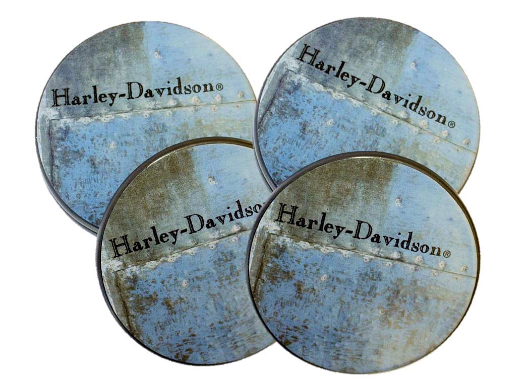 Harley Davidson Ceramic Coaster Set of 4