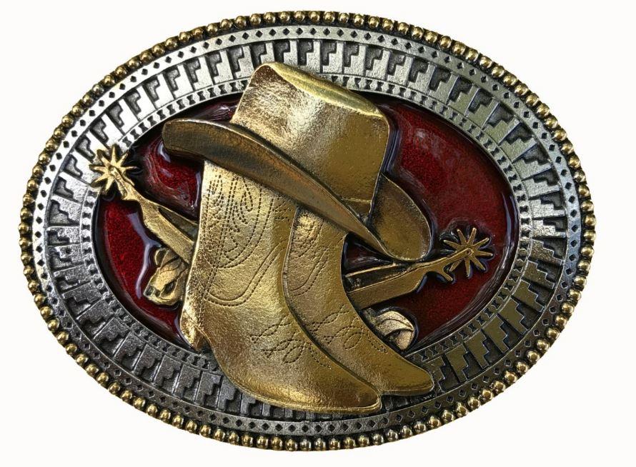 Hat & Boots Gold & Colour