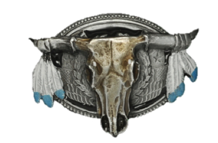 Steer Skull Bolo Tie  Complete with Cord