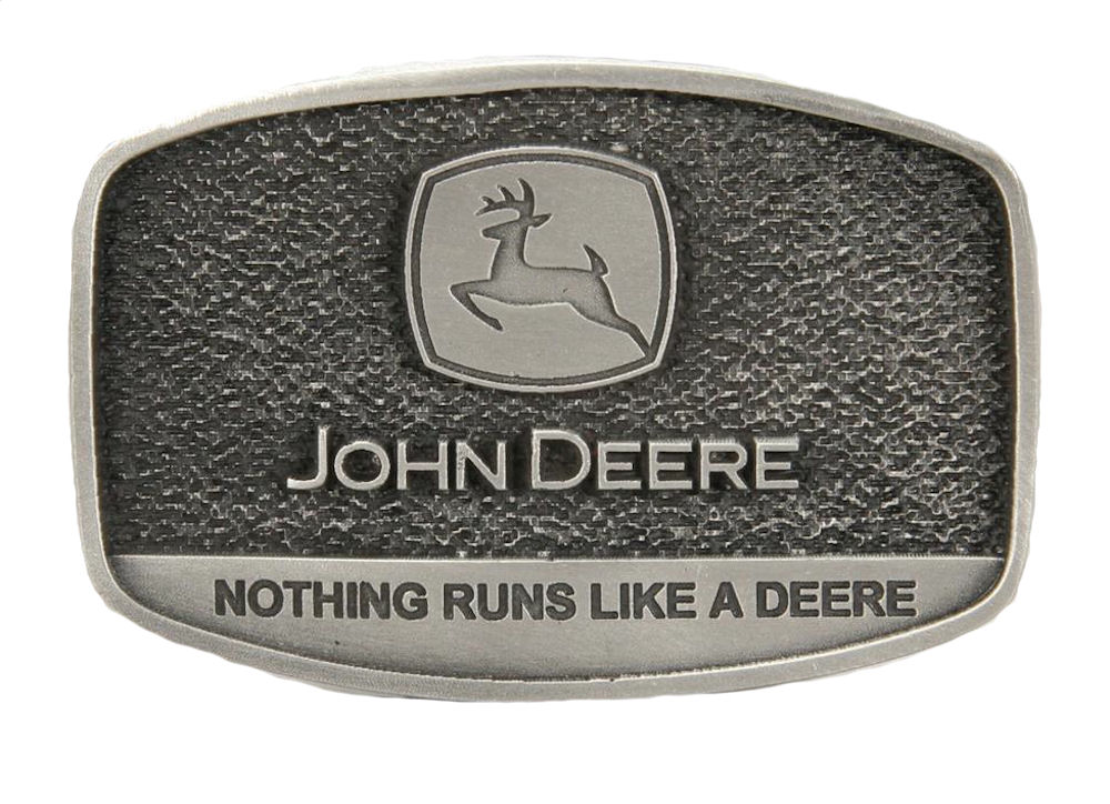 John Deere Nothing Runs Like A Deere Fine Pewter Buckle