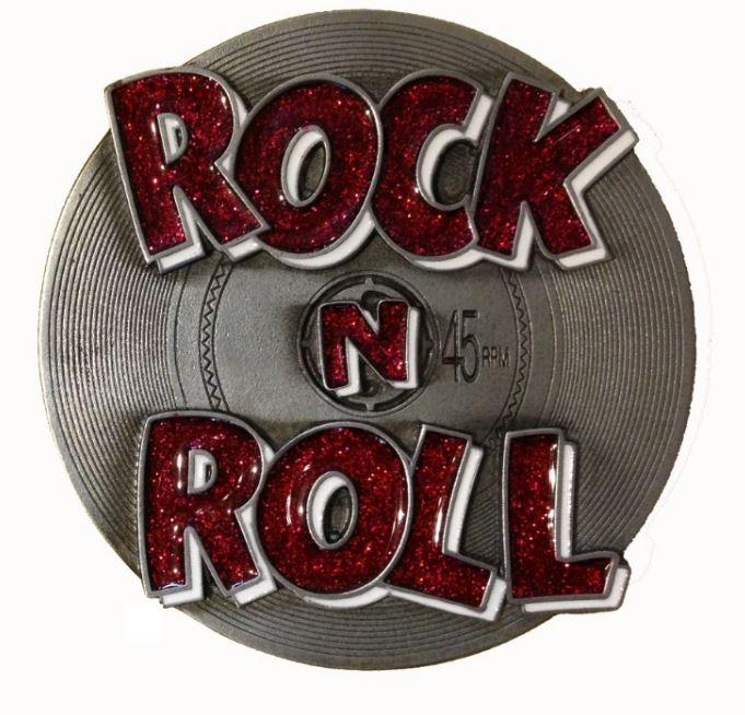 Rock & Roll Red Glitter Belt Buckle