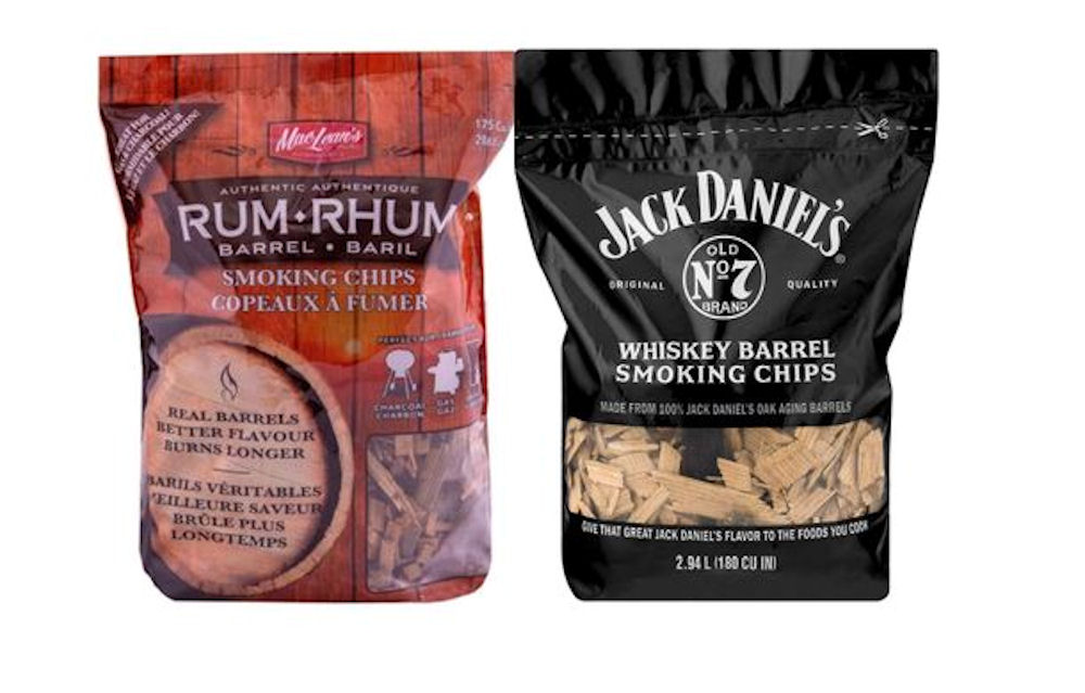 Jack Daniels Barrel Smoking Chips & Rum Barrel Smoking Chips