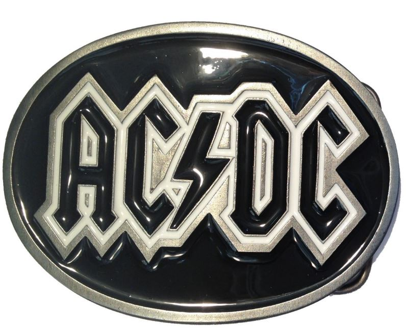 ACDC Logo Belt Buckle