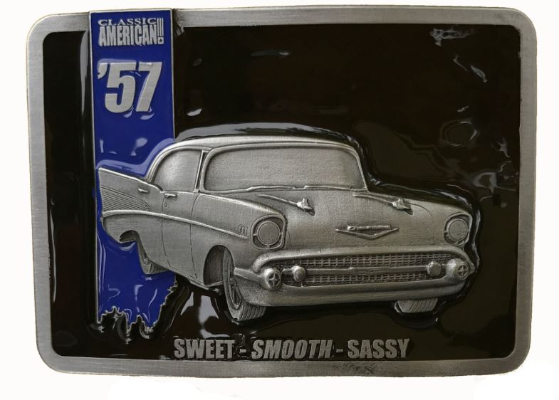 American  57 Car Belt Buckle